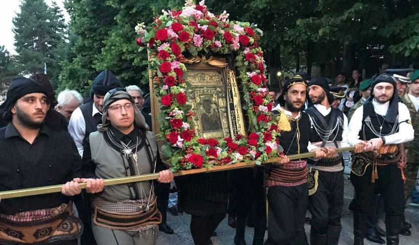 Αποτέλεσμα εικόνας για Θεσσαλονίκη: Η εικόνα της Παναγίας Σουμελά στις εορταστικές εκδηλώσεις για τον Άγιο Δημήτριο
